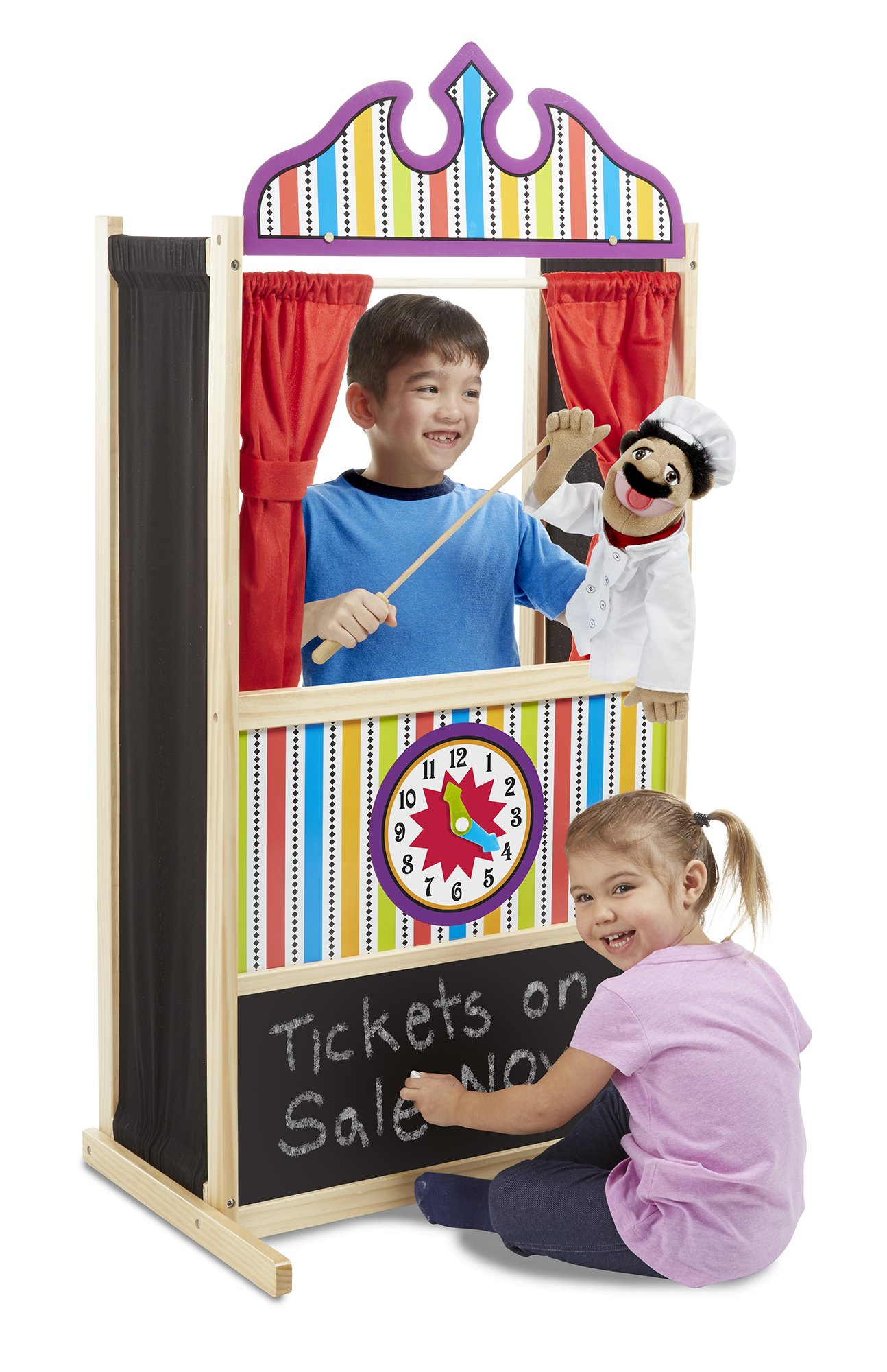 Melissa & Doug Deluxe Puppet Theater - Sturdy Wooden Construction by Melissa & Doug (Image #2)