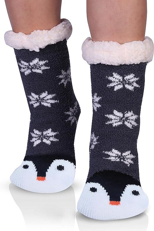 Women's Penguin Slipper Socks