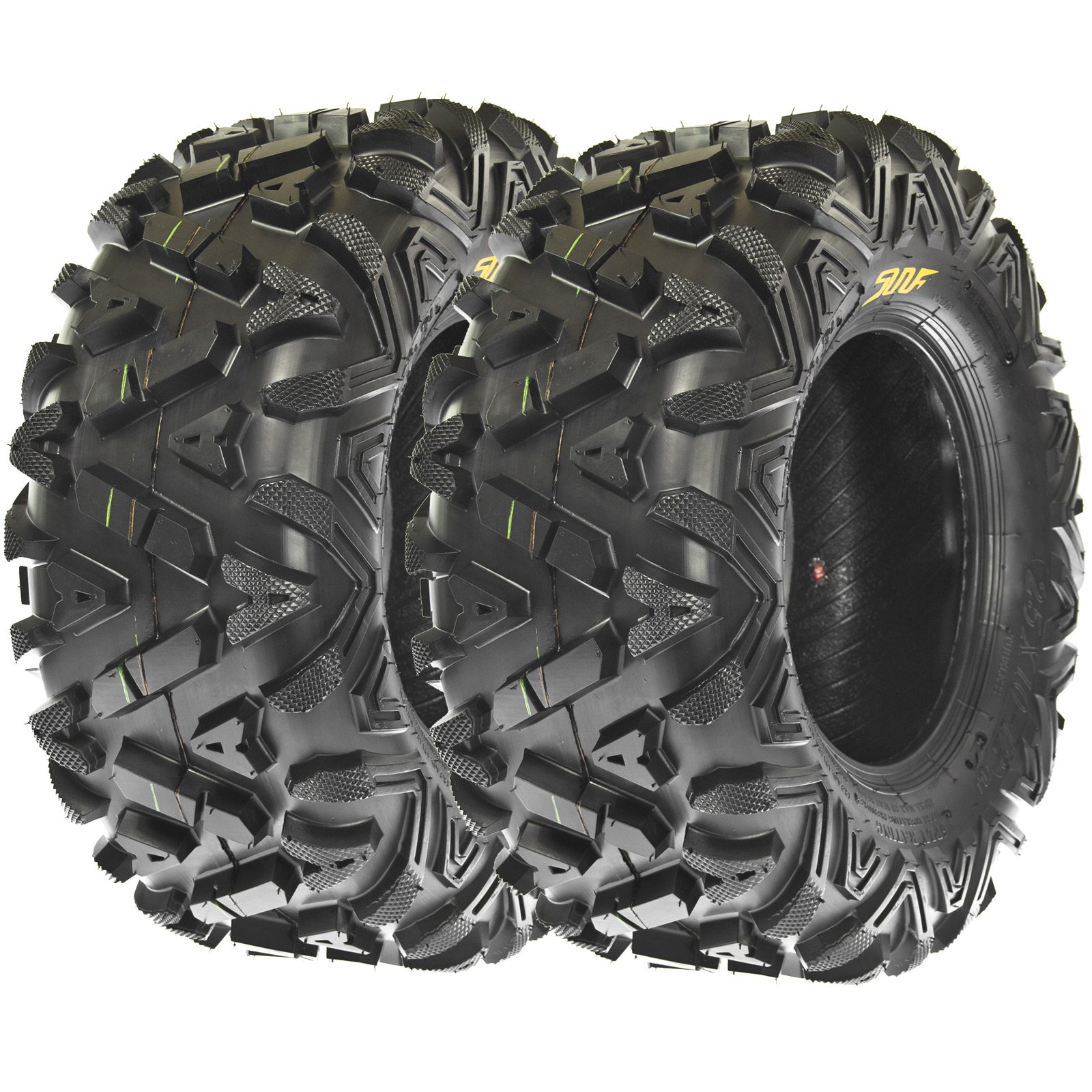 Sun.F A033 ATV Tires 24x11-10 Rear set of 2 ,6 Ply