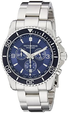 84445e06515c Image Unavailable. Image not available for. Colour  Victorinox Swiss Army  Men s 241689 Maverick Stainless Steel Bracelet Watch