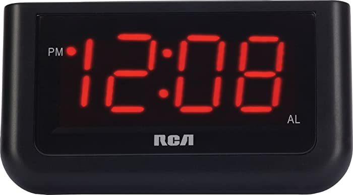 """RCA Digital Alarm Clock (RCA Digital Alarm Clock with Large 1.4"""" Display (Red))"""
