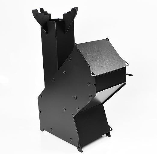 Estufa de leña resistente de cohete – Cocina portátil para ...