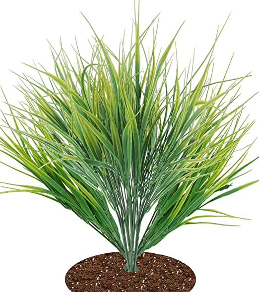 Amazon Com Clong Artificial Plants Wheat Grass Fake Plastic