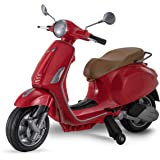 Kid Trax Toddler Vespa Scooter Electric Ride On Toy, 3-5 Years Old, 6 Volt, Max Weight 60 lbs, Red