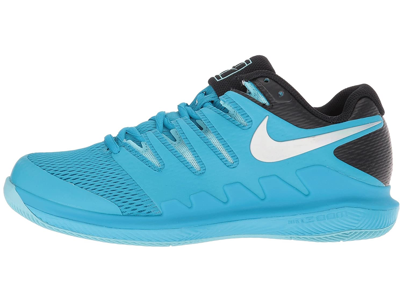 NIKE Women's Air Zoom Vapor X HC Tennis Shoes B00GISKSPA 5.5 B(M) US|Lt. Blue Fury/Multi-color/Bleached Aqua