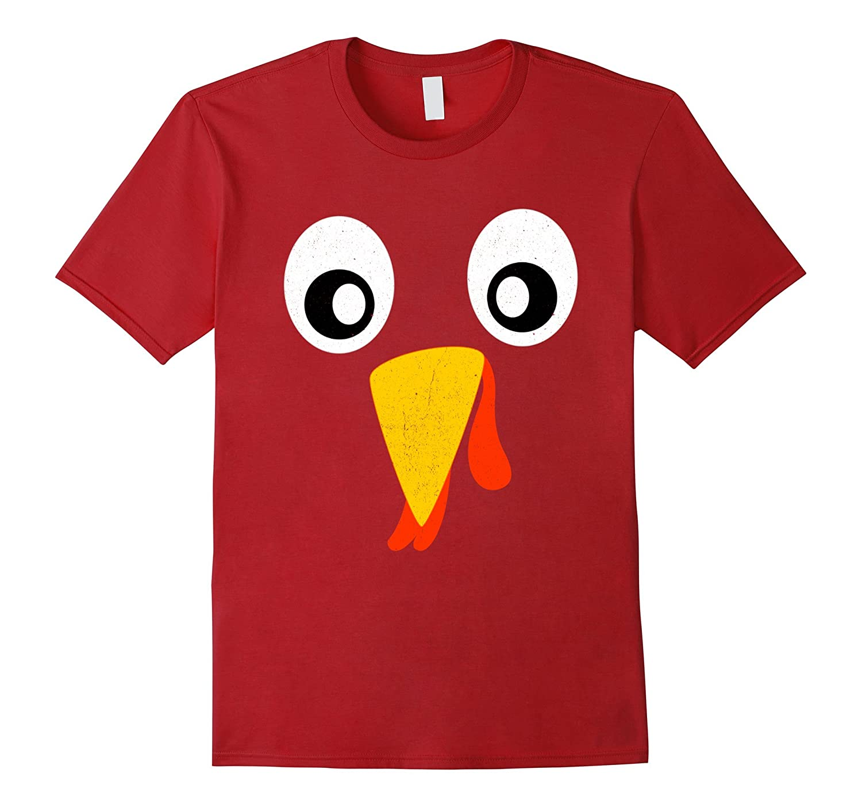 Turkey Face Pilgrim T-Shirt Funny Thanksgiving Costume Shirt-ANZ