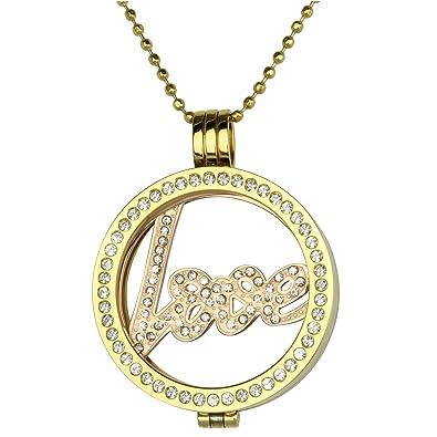 Mi Milano Love Münzemoneda Austauschbar Halskette Gold Anhänger