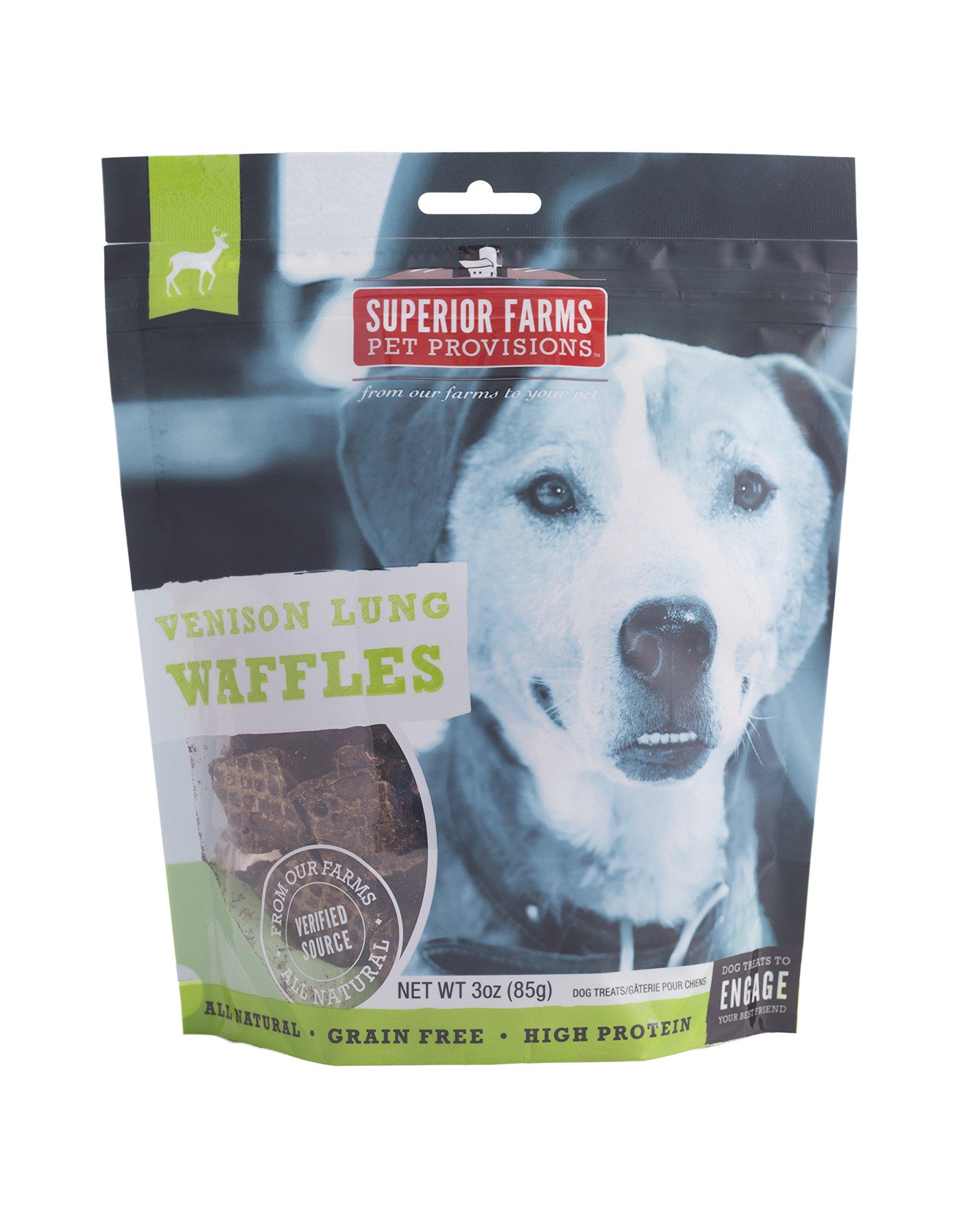 Superior Farms Pet Provisions Venison Waffles Pet Treat, 3-Ounce