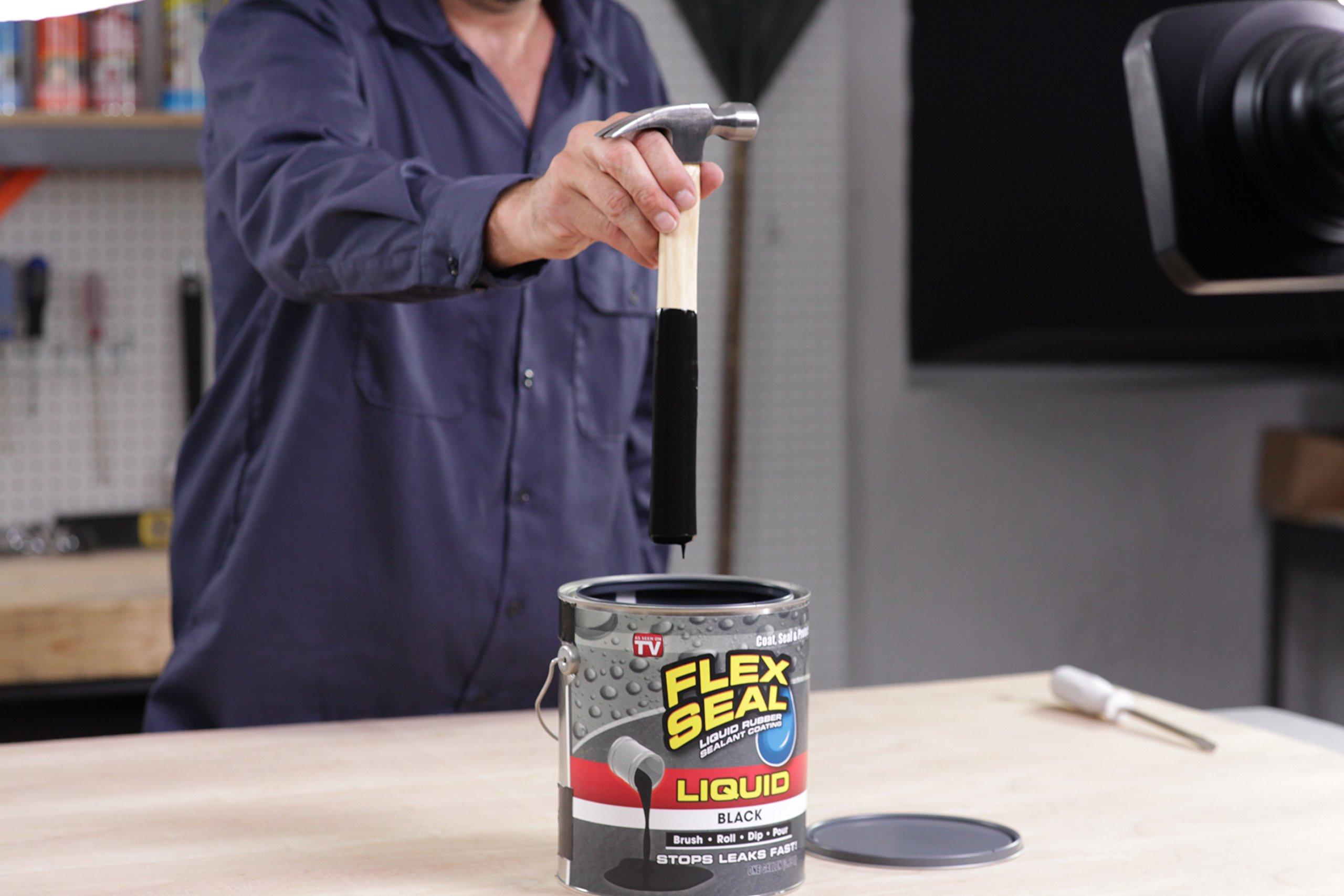 Flex Seal Liquid Rubber in a Can, 32-oz, Black by Flex Seal Liquid (Image #3)