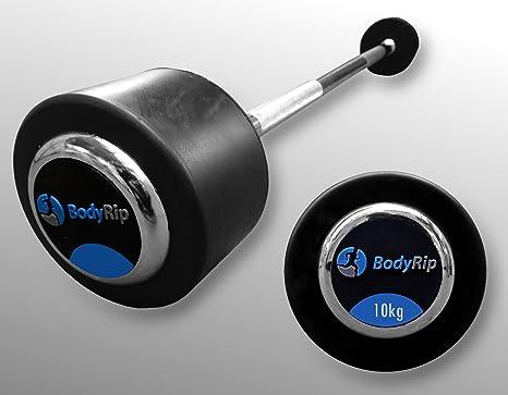 Juego de levantamiento de pesas fija BodyRip recto para HALTERA o incluye roscas 10 kg 15