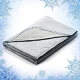 Elegear Revolutionary Queen Size Cooling Blanket Absorbs Body Heat to Keep Adults, Children, Babies Cool on Warm Nights…
