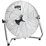 "Oypla Electrical 18"" Chrome 3 Speed Free Standing Gym Fan"