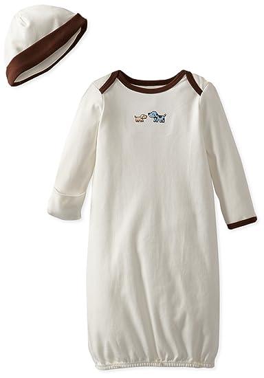 Little Me Boys 2-Piece Gown /& Hat Set
