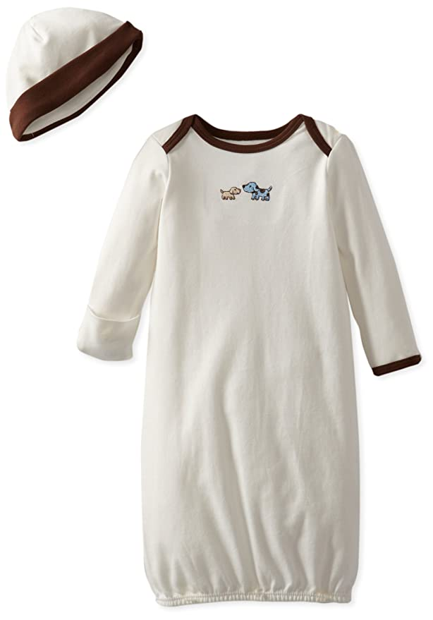 Little Me Girls 2-Piece Gown /& Hat Set