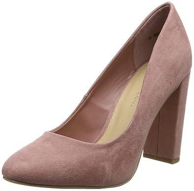 bdddfadc26 New Look Women's Wide Foot Sharona Closed-Toe Heels (Light Pink), 5 ...