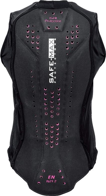 Safe Max Motorrad Protektorweste Damen Protektorweste 1 0 Spezielle Damenschnittführung Rückenprotektor Besonders Atmungsaktiv Spezielle Ergonomische Ausformung Schwarz S Xl Bekleidung