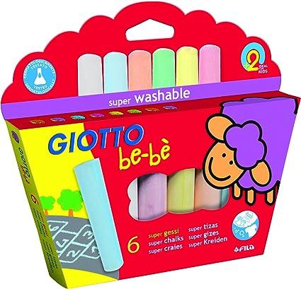 Giotto Be-bè 467300 - Pack de 6 súper Tizas, Multicolor: Amazon.es: Oficina y papelería