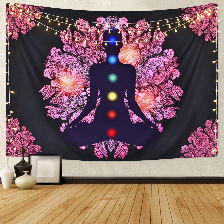 Chakra Tapestry Seven Chakra Tapestry Yoga Meditation Tapestry Zen Tapestry for Room