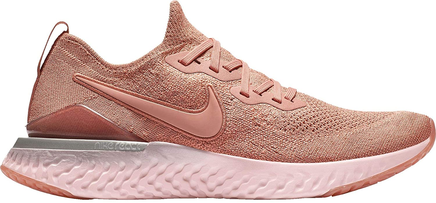 detailed pictures the latest new york Nike Men's Epic React Flyknit 2 Running Shoes (10.5, Rose Gold)