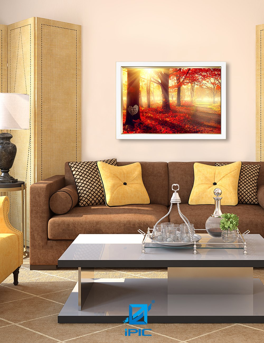 IPIC - ''You Are My Sunshine'', Personalized Artwork with Names and Date on, Perfect love gift for Anniversary,Wedding,Birthday and Holidays. Picture size: 30x20'', Framed Size: 33x23x1.25'' by IPIC (Image #5)