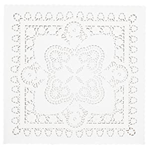 Juvale Square Paper Doilies (8 inch, White, 200 Pack)