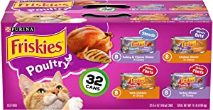 Purina Friskies Canned Wet Cat Food 32 Count Variety Packs - (32) 5.5 oz Cans