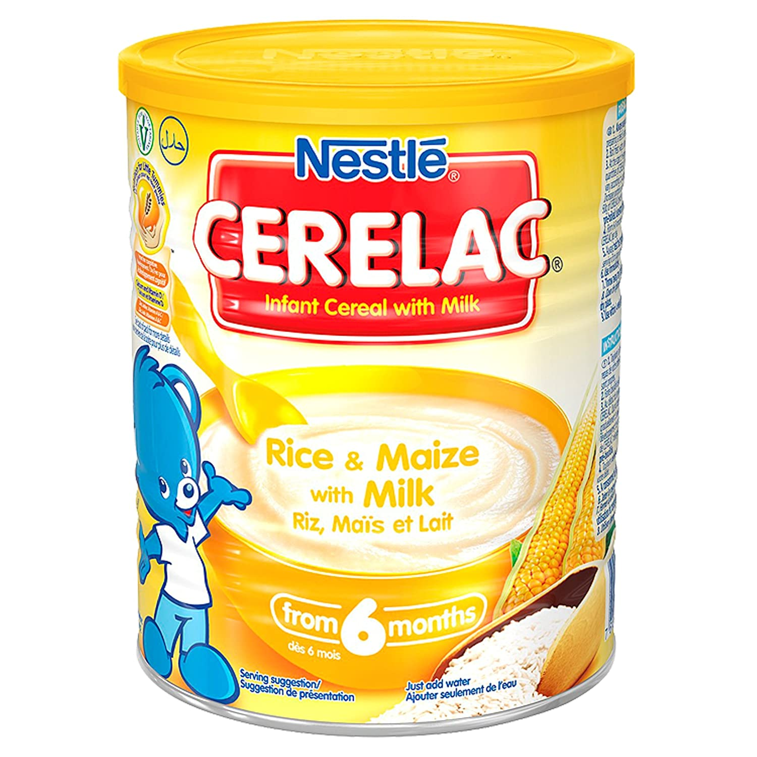 Nestle Cerelac Rice+maize With Milk, 14-Ounce Cans (Pack of 4) C15