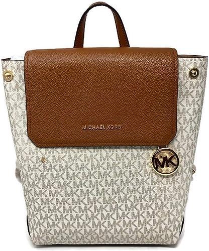 : MICHAEL Michael Kors MD Hayes Backpack Vanilla