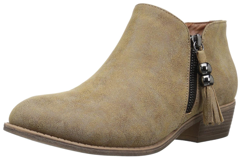 Journee Collection Frauen Kizzie Geschlossener Zeh Fashion Stiefel Braun Groesse 6 US  37 EU