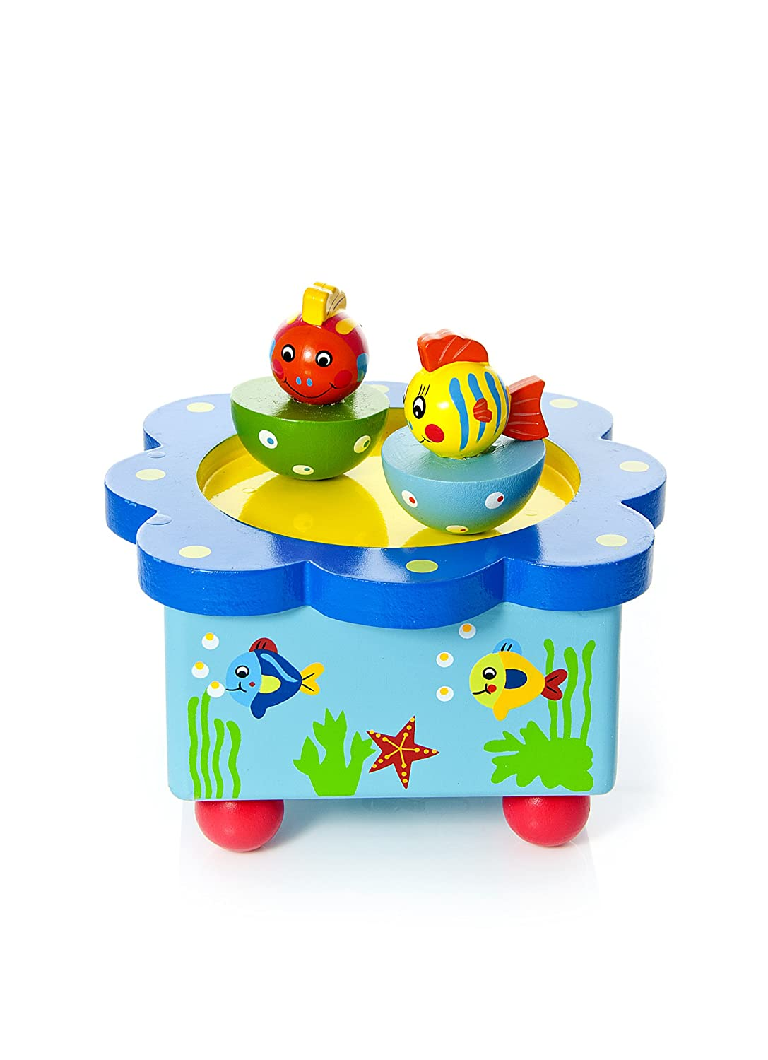 Colourful Fish and Sea Animal Music Box playing Sesame Street Music New Baby Gift Mousehouse Gifts MH-100144 Water Animals