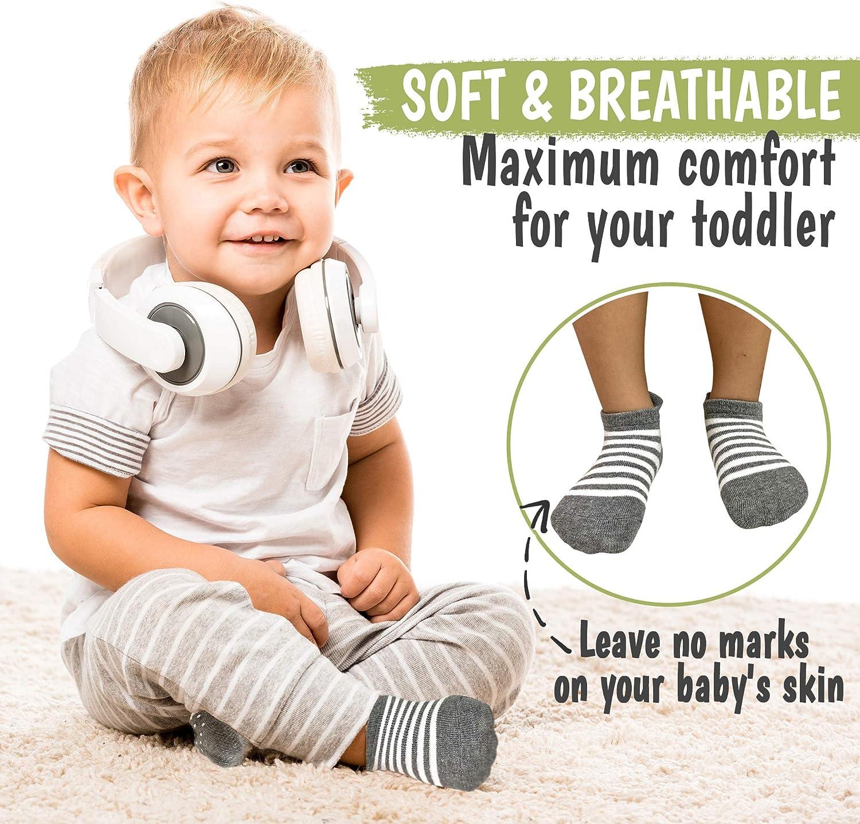 Blue Craft Ergonomic Anti Skid Sole Grips For Boys Girls Toddlers Kids 12-36 Months KeaBabies Baby Non Slip Grip Toddler Socks