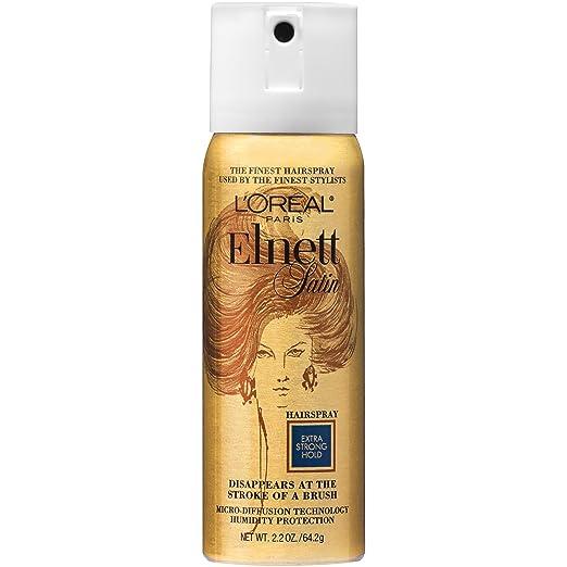 L'Oreal Paris Elnett Satin Hairspray Extra Strong Hold (Travel Size), 2.2 Ounce
