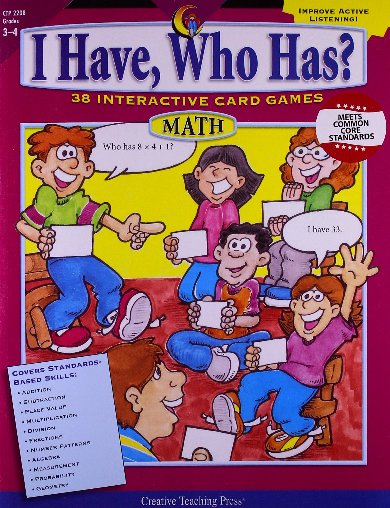 I Have, Who Has? Gr. 3-4 Math PDF