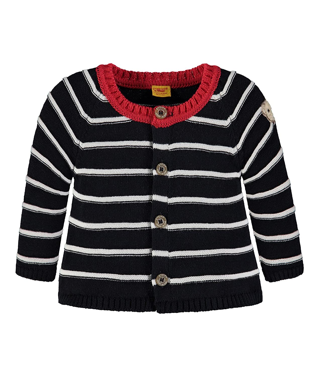 Steiff Collection Jungen Strickjacke 1/1 Arm 6832507, Mehrfarbig (y/d Stripe 0001), 86