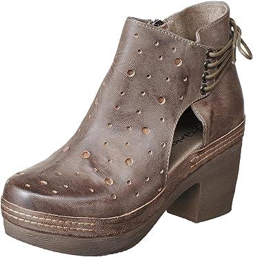 69dd9b9fcfa Antelope Women s 996 Leather Cut   Lace Clog Bottom Bootie