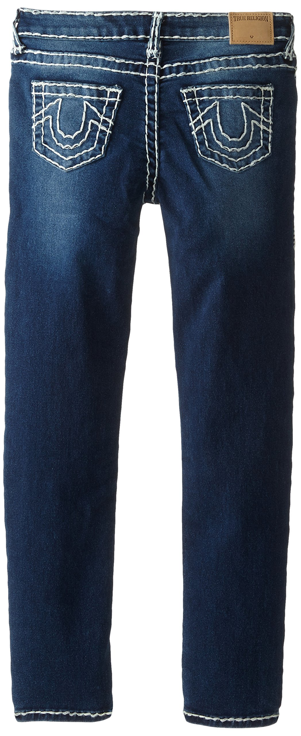 True Religion Girls' Casey Skinny Jean-Natural Super T, Ancient, 8 by True Religion (Image #2)