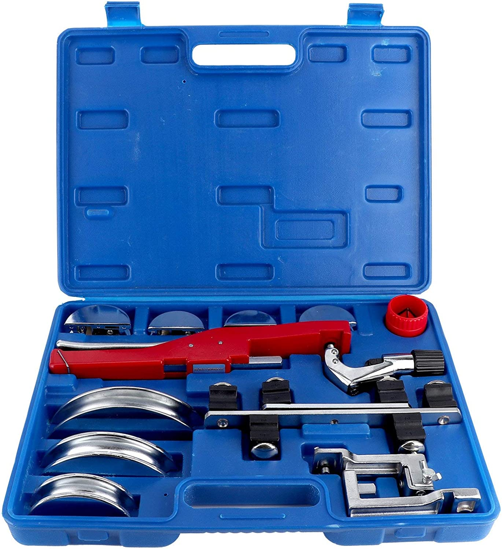Kit de dobladora de tubos manual de 14 piezas, kit de dobladora de tubos de aleación de aluminio de 90 °, rápido y preciso, para doblar tubos de aluminio o cobre y tubos delgados de acero inoxidable
