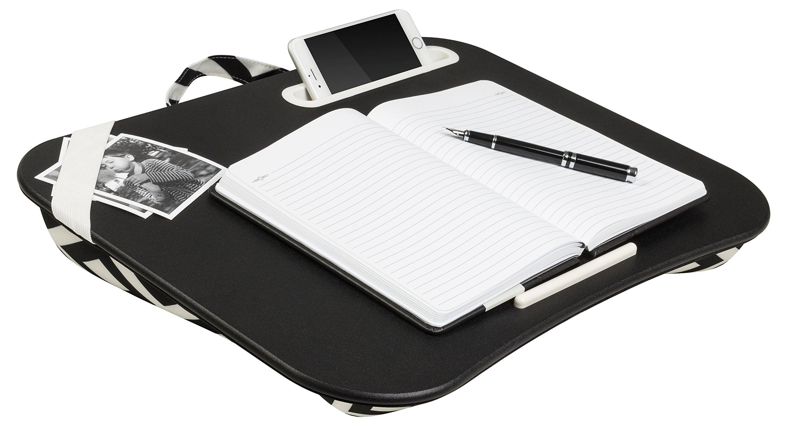 LapGear XL Designer Lap Desk, Black & White Geo (Fits up to 17.3'' Laptop)