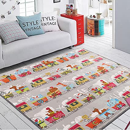 Bon LOCHAS Area Rug Colorful Kids Bedroom Carpet Play Game Mat For Baby  Crawling (4.9 X