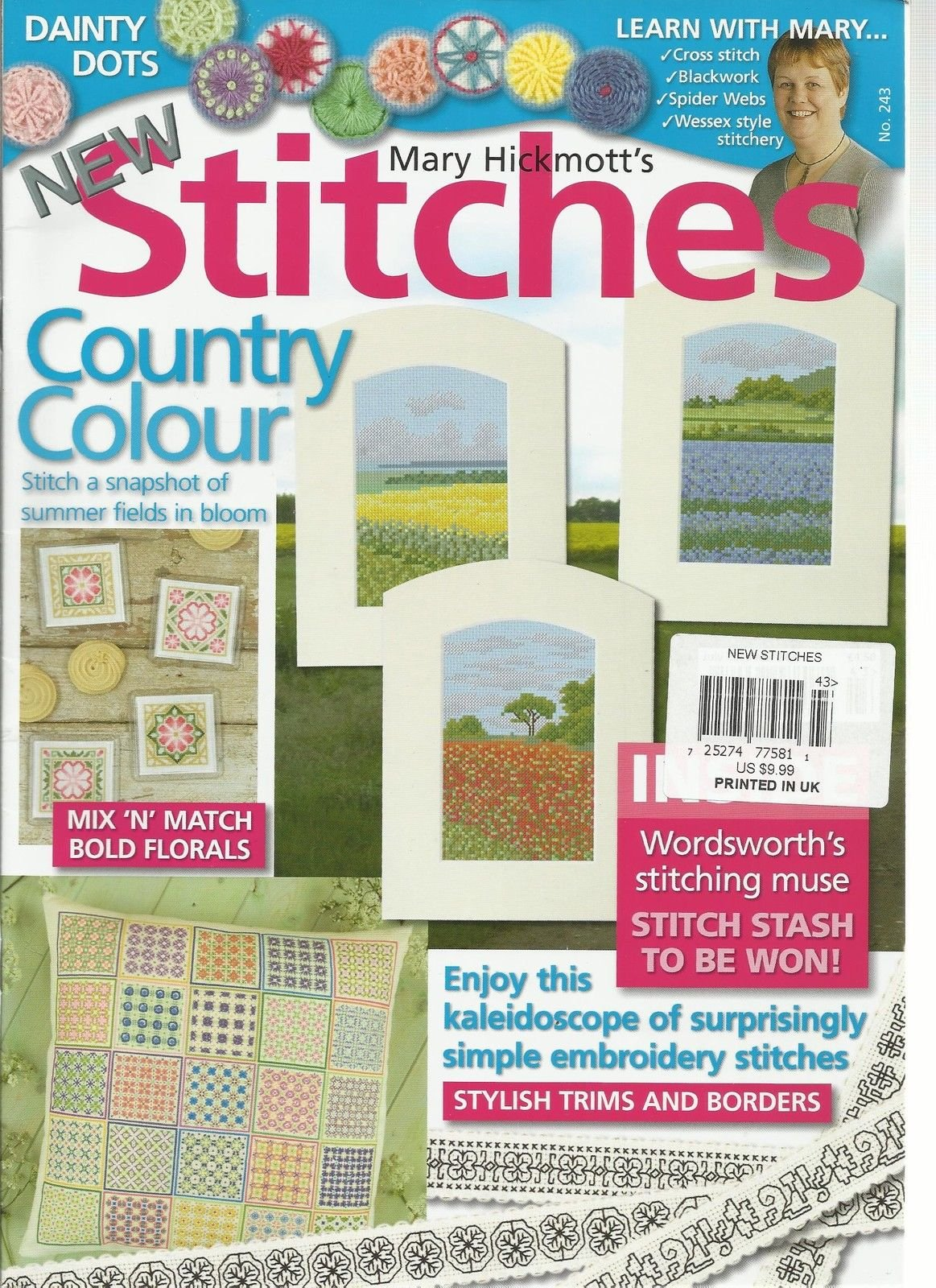 NEW STITCHES, ISSUE NO. 243 (COUNTRY COLOR STITCH A SNAPSHOT OF SUMMER FIELD