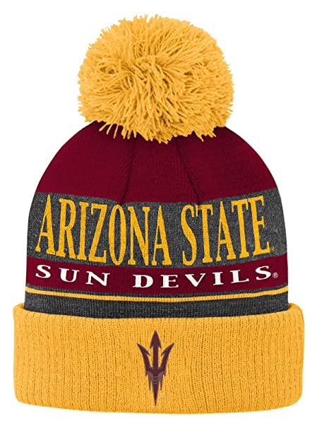 744fd58a44c16b Outerstuff NCAA Arizona State Sun Devils Youth Boys Team Wordmark Cuffed  Knit Hat, One Size