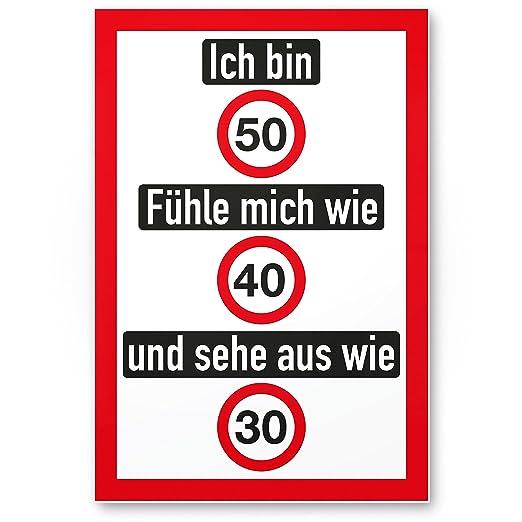DankeDir!. Ich Bin 50 años - Letrero (Amable), de plástico ...