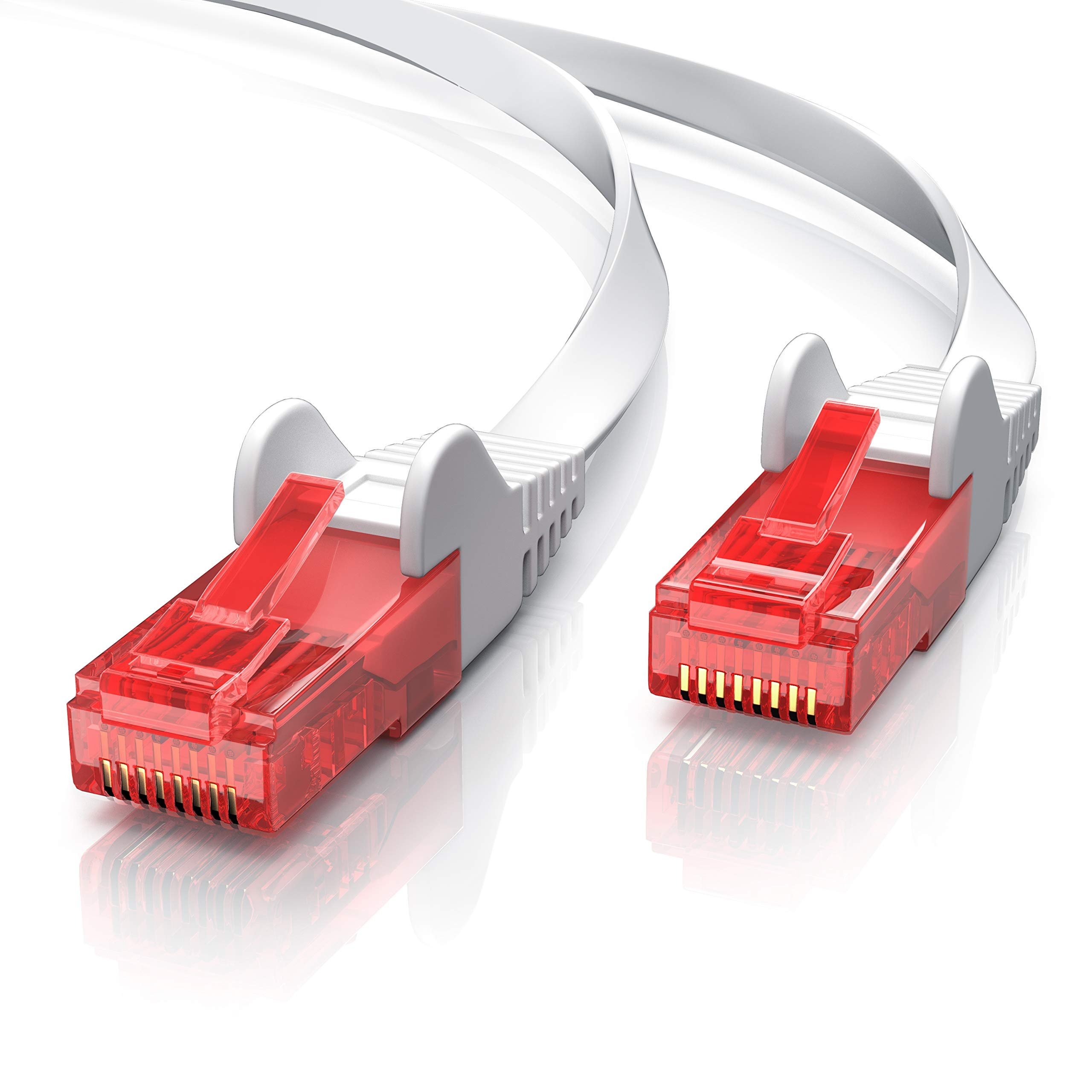 CSL - 15m Cable plano de red Gigabit Ethernet Lan CAT.6 (RJ45)