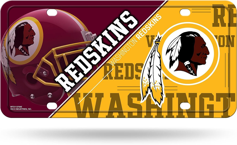 One Size Rico Industries NFL Washington Redskins Unisex Washington Redskins License Plate Metalwashington Redskins License Plate Metal Team Color