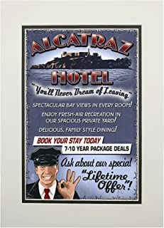 product image for San Francisco, California - Alcatraz Island Hotel (11x14 Double-Matted Art Print, Wall Decor Ready to Frame)