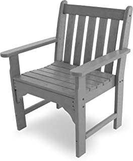 product image for POLYWOOD Vineyard Conversation Chair, Slate Grey