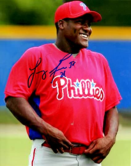 caf26b9e Amazon.com: Autographed Larry Greene 8x10 Philadelphia Phillies ...