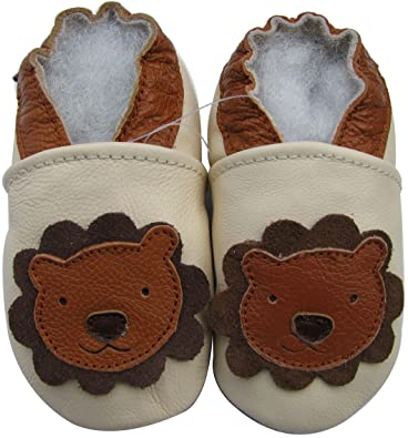 Kids Shoes Cream Sole 5 Baby Leather Lion Soft 6Y Carozoo Toddler RwH0U8