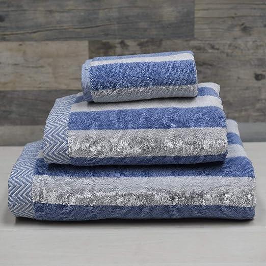 Sensei Maison – Pack de 3 Piezas de 580 gr/m2-1 Toalla de baño + 1 Toalla de Ducha + 1 Toalla de Invitados, Muy Suave y Absorbente – 80% algodón y 20% Mod. – Color: Amazon.es: Hogar