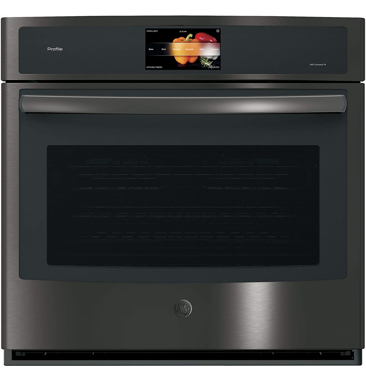 """GE Profile 30"""" Black Stainless Built-In Single Convection Wall Oven"""